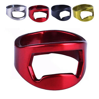 Beer Tool Metal Finger Ring Bottle Opener Bar Cap Opener Remover Portable