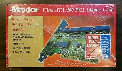 Maxtor Ultra ATA / 100 PCI Adapter Card - New In Factory Sealed Box