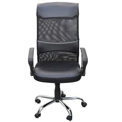 360 Degree Swivel Executive High Back Mesh Computer Office Chair PU Leather