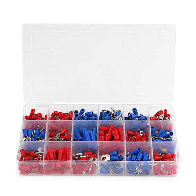 Colorful 330pcs Crimp Butt Terminals Insulated Electrical Wire Assorted Kit Box