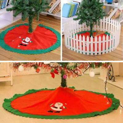 Santa Claus Christmas Tree Skirt Stands Ornaments Xmas Party Decoration JJ