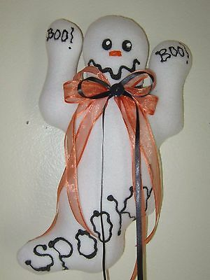 CoLLecTiBLe   LARGE    HaLLoWeeN  BOO! BOO! GHosT WREATH / WALL  DeCoRaTion