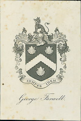 George Farwell. East Marden,  Chichester. Bookplate by Pugh Bros  JD.1261