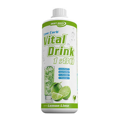 Lemon Lime Mineraldrink Nutrition Getränkekonzentrat Low Carb Vital Drink 1L