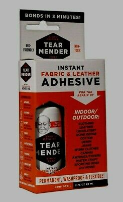 2oz TM-1 **TEAR MENDER** Instant Fabric & Leather Adhesive Repair Non-Toxic Glue