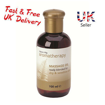 Natures Way Aromatherapy Massage Facial Oil For DRY and SENSITIVE Skin NWA0220