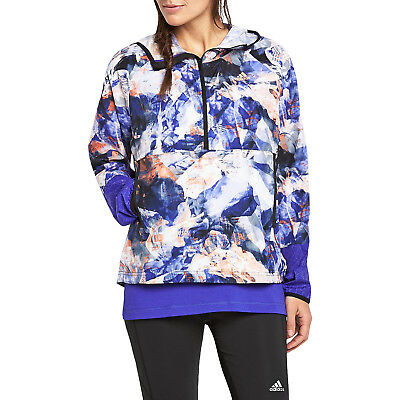 adidas Performance Womens Workout Training Lightweight Hooded Anorak Jacket Coat