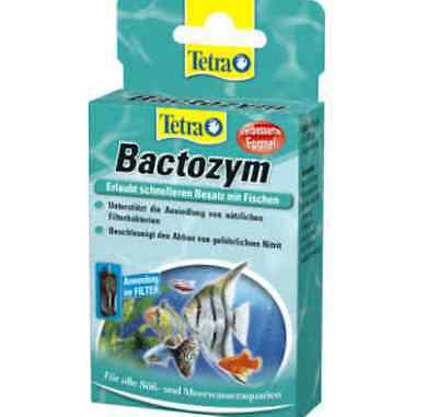 Tetra BACTOZYM * 10 tablets * FRESH & MARINE *  Water Conditioner