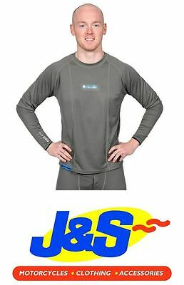 Oxford Products Layers Cool Dry Ls Mens Top Thermal Base Winter Tee Grey J&s
