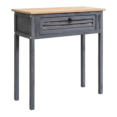 Mobili Rebecca® Desk Table 1 Drawer Wood Blue Natural Bedroom Bathroom Hall