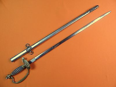 German Germany WWI WW1 Engraved Short Sword w/ Scabbard