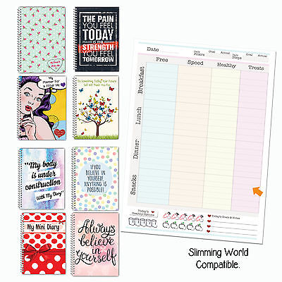 Diet Diary, Food Log, Journal, Slimming World Compatible, Tracker, Weight Loss