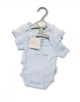 Premature Baby Boy Bodysuits 2 Pack - A Star Is Born (3-5lbs or 5-8lbs)