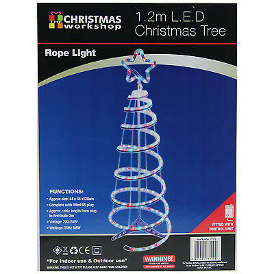 1.2m Multi-Colour LED Rope Tree Light Indoor Outdoor Christmas Xmas Lighting New