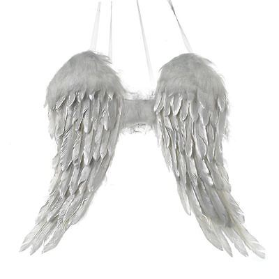 Luxury Wow Silver Feather Wings Wall/door Hanging Angels Christmas Bedroom Decor