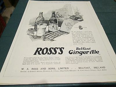 (P3) Ross`s Belfast Ginger Ale Advert 20Th May 1925