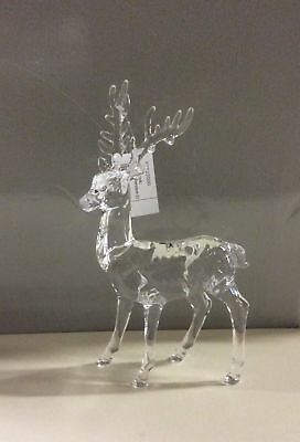 New 23cm Acrylic Standing Reindeer Christmas Decoration / Figure OFFER!