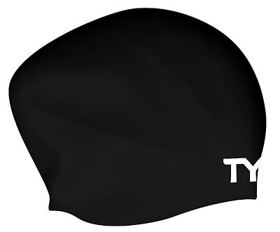Tyr Long Hair Wrinkle Free Silicone Cap Black Silicone
