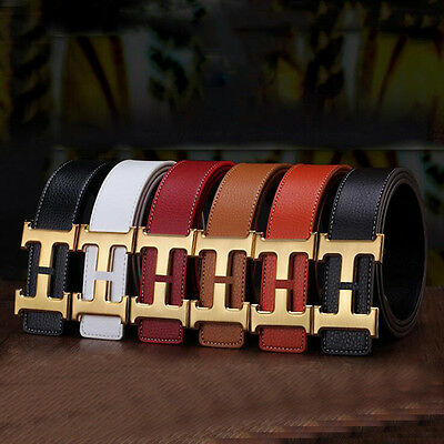"New Hot sell Men's Fashion Belts Genuine Leather ""H"" Buckle Waist Belt Waistband"