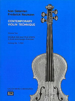 Contemporary Violin Technique, Volume 2 (Double Stops) by Ivan Galamian
