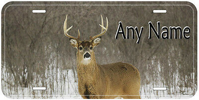 Deer Personalized Any Name Novelty Aluminum Car License Plate A01