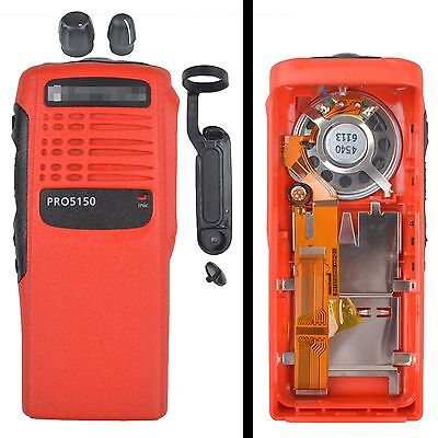 Red Housing with ribbon type cable mic and speaker for motorola PRO5150 radio