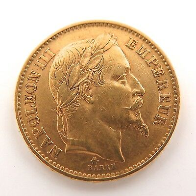 .1868 Nice High Grade French Gold 20 Francs