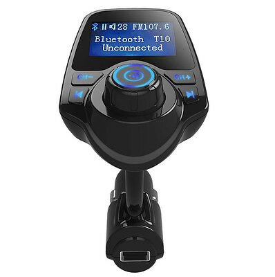 Bluetooth Wireless AUX FM Transmitter Modulator MP3 MMC USB Charger Car Kit AU
