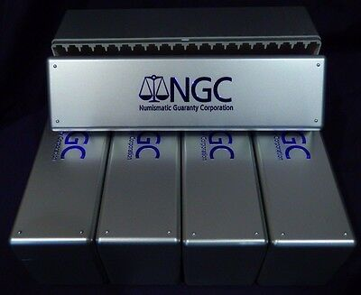 5x NGC Silver Graded Coin Storage Box Holds 20 Individual Certified Coins New
