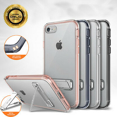 OBLIQ Naked Shield Kick Stand Clear Hard Slim Dual Layer Skin Case for iPhone 7