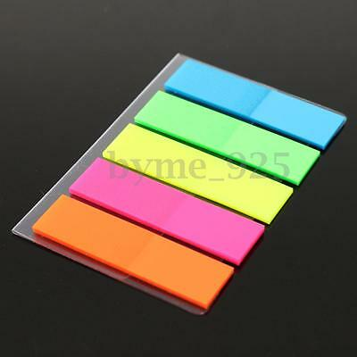 100pcs Rainbow Sticky Notes Paper Diary Notebook Memo Pad Tab Note Book Office