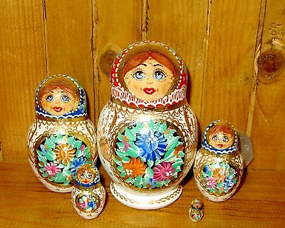 Russian UNIQUE SMALL matryoshka Nesting Doll hand painted SIDOROVA signed 5