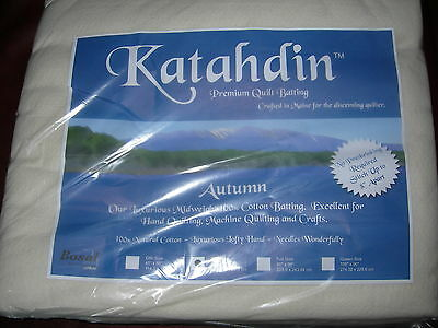"Katahdin autumn weight cotton batting - 4oz - twin size 90 x 72"", 182 x 228 cm"