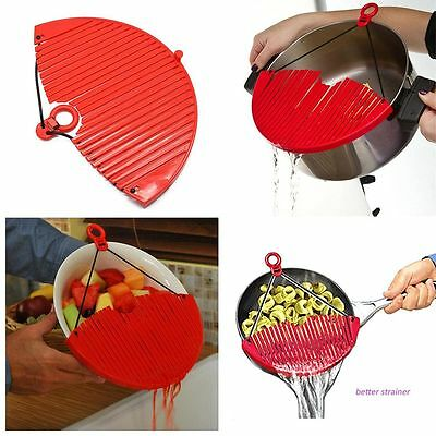 Kitchen Tool Lock On Pot Pan Top Drainers Expandable Strainer Sieve Water Filter