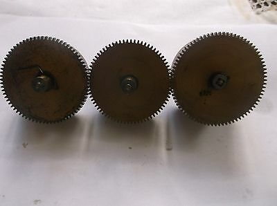 3 Mainspring Barrels  From An Old 5 Hammer  Mantle Clock