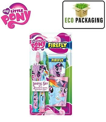 My Little Pony Dental Set, Toothbrush x 2 Toothpaste & Cup / Beaker