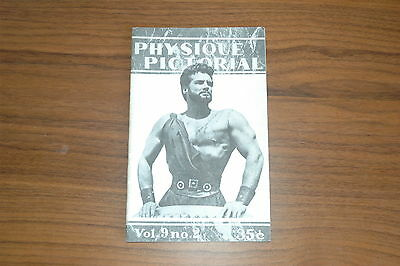 PHYSIQUE PICTORIAL VOL 9 #2 50s VINTAGE MAGAZINE BOYS ART BEEFCAKE GAY MALE NUDE