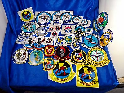 Vintage New Old Stock US Navy Decal Sticker Lot of 34 VP