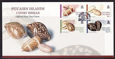 * Pitcairn Is., Scott  548-551. Cowrie Sea Shells. First day cover.