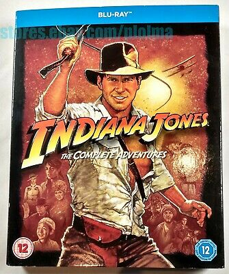 INDIANA JONES THE COMPLETE ADVENTURES 4 Films on BLU-RAY Raiders Last Crusade