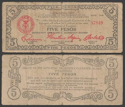 Philippines 5 PESOS WWII 1944 P S517a USED