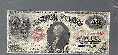 1917 $1.00 United States Note Large Size Currency Red Seal U.S. One Dollar Bill
