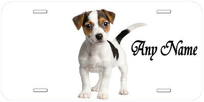 Jack Russell Terrier Puppy Personalized Any Name Novelty Car License Plate