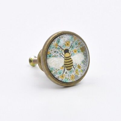 Cute Bumble Bee Knob Bee Insect Drawing Handle, Yellow Bee Knob, Vintage Bee Cup