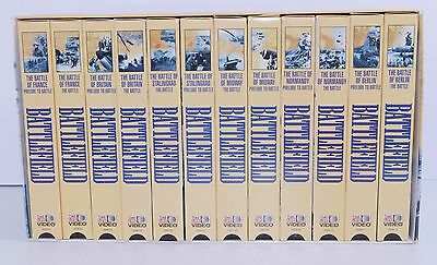 Time Life Video Series Battlefield (World War II) Set of 12 VHS Tapes