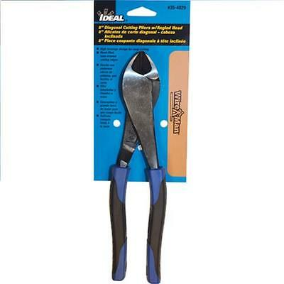 "IDEAL 8"" Diagonal Pliers with Angled Head Wire Man Smart Grip Tool Plier 35-4029"