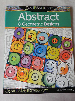 """""""Abstract & Geometric Designs"""" Zenspirations Colouring Book, Adults & Children"""