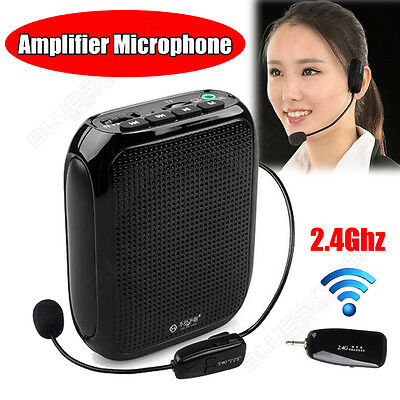 Portable Waistband Voice Amplifier Booster 2.4G Wireless Microphone Loud Speaker
