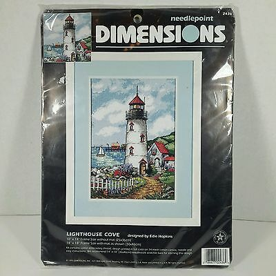 """Dimensions Lighthouse Cove Needlepoint Kit 2436 Edie Hopkins 10 x 14"""" Sealed New"""
