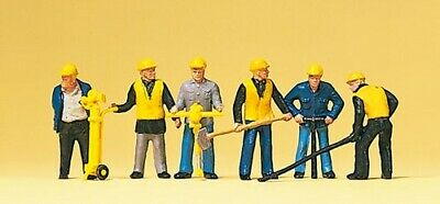 Preiser 10035 HO Scale Track Maintenance Gang with Tools Model Railway Figures